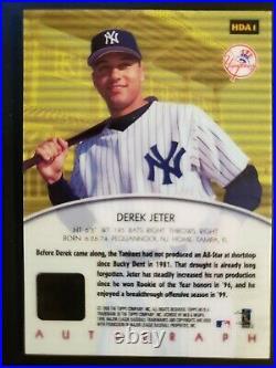 Derek Jeter 2000 Topps Hd #hda1 Auto Sp Autograph New York Yankees Rare