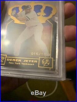 Derek Jeter 2001 Pacific Gold Crown Die Cut Blue #30/100 PSA 9! POP 4, RARE