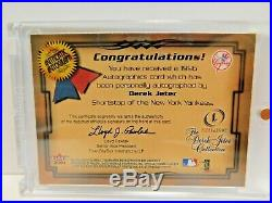 Derek Jeter 2001 Skybox Autographics Auto Sp Rare Jeter Auto Never Released