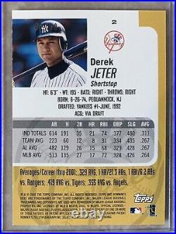 Derek Jeter 2002 Bowman Best GOLD REFRACTOR #d /50 Very RARE