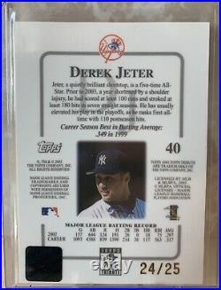 Derek Jeter 2003 Topps Contemporary #40 GOLD Refractor #d /25 Very Rare