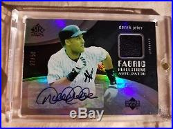 Derek Jeter 2005 UD Reflections Autograph Auto Game Used Patch Rare /50 Yankees