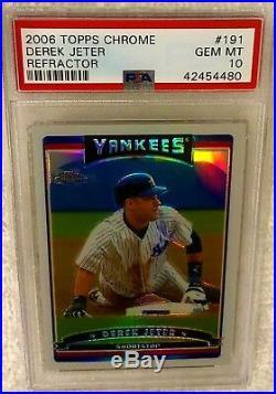Derek Jeter 2006 Topps Chrome Refractor #191 Psa 10 Gem Mint Pop 8 Rare Yankees