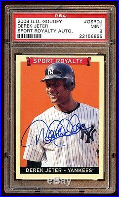 Derek Jeter 2008 Goudey Auto Super Sp! Sports Royalty Card Is Rare Not Listed