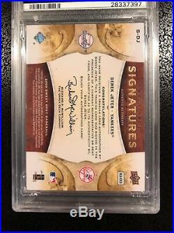 Derek Jeter 2009 Upper Deck Sweet Spot Autograph PSA 8 Red Stitch #d /150 RARE