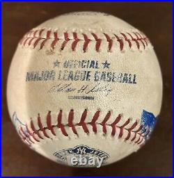 Derek Jeter 2014 Farewell Game Used Baseball Art 1/1 Last Hit Rare