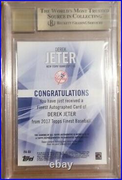 Derek Jeter 2017 Finest Autograph Refractor (Pop 6) RARE! Yankees