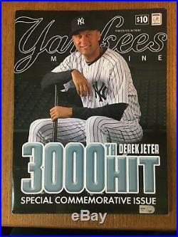 Derek Jeter 3000th hit full season ticket 7/9/11 Jeter on ticket + bonus RARE