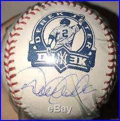 Derek Jeter 3,000 Hit Autographed Signed DJ3K Baseball Steiner Sports Holo RARE