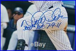 Derek Jeter 3,000th Hit 7-9-11 Signed Inscribed 16x20 Framed Photo Steiner RARE