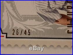 Derek Jeter Auto #26/45 Sp Legendary Cut 2009 Future Legends Rare Autograph