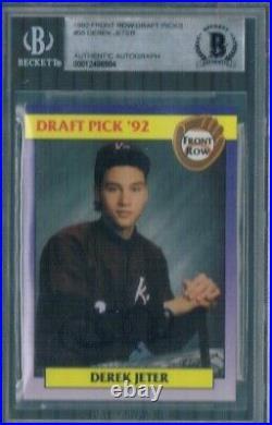 Derek Jeter Auto Rookie 1992 Front Row Rare Promo #55 BGS Certified Yankees