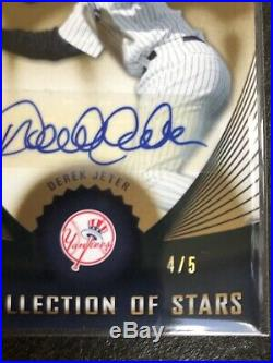 Derek Jeter Autograph, 2005 Upper Deck SP Collection Of Stars 4/5, RARE