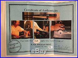 Derek Jeter Autographed print, framed with game bat piece and Steiner COA! Rare