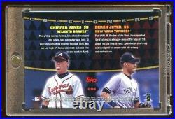 Derek Jeter / Chipper Jones 1999 Topps Dual Signature Autograph Hof Mint! Rare