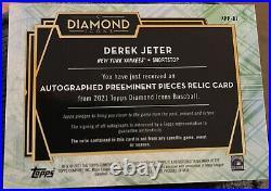 Derek Jeter Diamond Icons 1/1! Game Used Material Auto. RARE