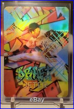 Derek Jeter Draft Graffiti Refractor #4/5, Artist Autograph rare