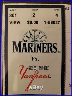 Derek Jeter First Hit Game 1st Full Ticket Yankees Mariners May 30, 1995 RARE