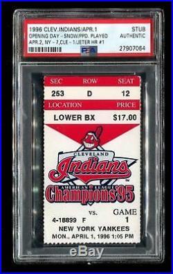 Derek Jeter HR #1 Baseball Ticket Stub 4/1/1996 Rare PSA