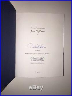 Derek Jeter Jeter Unfiltered, Autographed #15/400. NY Yankees Legend! Rare