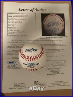 Derek Jeter & Jorge Posada Signed Baseball JSA Certified Autograph Rare Auto