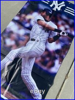 Derek Jeter New York Yankees HUGE Banner 6 Ft x 3 Ft STADIUM USED RARE