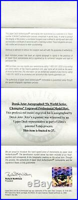 Derek Jeter Ny Yankees Uda Autographed 5 X Ws Champ Engraved Bat 24/27 Rare