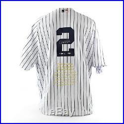 Derek Jeter Ny Yankees Uda Autographed Mr. November Jersey Le 11/27 Rare