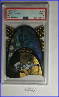 Derek Jeter PSA 9 MINT Rare 1997 SPx Gold #SPX36 Yankees LOW POP 12