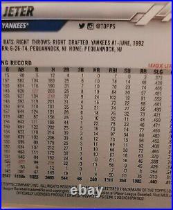 Derek Jeter RARE SSP 2020 Topps Update U-257 Code 632 New York Yankees