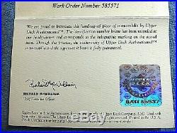 Derek Jeter Rare Auto Jersey Number 13/22 UDA HUGE Framed 2000 World Series MVP