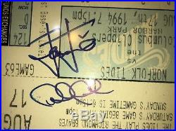 Derek Jeter Rare Autographed 1994 Minor League Ticket Stub! PSA