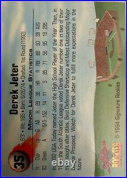 Derek Jeter Signature Rookies 1994 RARE ROOKIE AUTOGRAPHED! PSA NM 7, AUTO 10