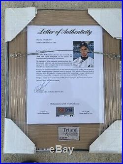 Derek Jeter Signed 8x10 Autograph Framed Photo PSA/DNA LOA Pre- Rookie Auto RARE
