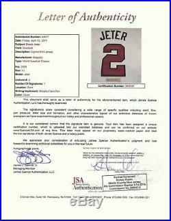 Derek Jeter Signed Authentic 2009 WBC World Baseball Classic Jersey JSA COA RARE
