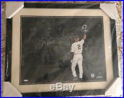 Derek Jeter Signed Auto Autograph Framed 16x20 Retirement Photo Steiner Coa Rare