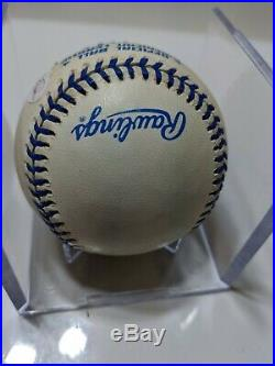 Derek Jeter Signed Baseball Joe DiMaggio Ball RARE COA JSA New York Yankees