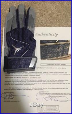 Derek Jeter Signed Batting Glove ROY 96 Inscribed JSA Certified Autograph RARE
