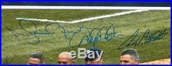 Derek Jeter Signed Core Four Photo Mariano Rivera Posada Pettitte Rare Steiner