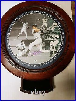 Derek Jeter Signed New York Yankees End Table Danbury Mint Steiner COA Rare NIB