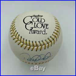 Derek Jeter Signed Rawlings Gold Glove Baseball With Steiner COA RARE