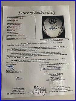 Derek Jeter Signed Retirement Logo Baseball JSA LOA #2 New York Yankees RARE