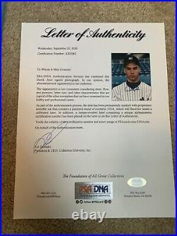 Derek Jeter Signed Rookie 8x10 Photo PSA/DNA Certified Autograph Rare Auto