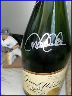 Derek Jeter Signed Yankee Stadium Used Champagne Bottle Steiner Loa Hofrare