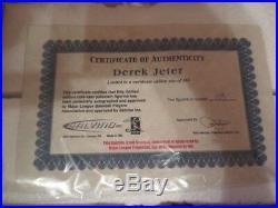 Derek Jeter Steiner Autographed Rare Salvino Figurine Mint in Original
