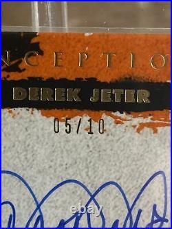 Derek Jeter Topps 2021 Inception Dawn Of Greatness On Card Auto /10 Rare