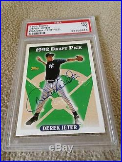 Derek Jeter VINTAGE AUTOGRAPHED ON CARD 1993 Topps Rookie PSA HOF 2020 VERY RARE