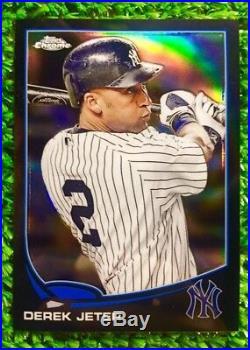 Derek Jeter-Yankees 2013 Topps Chrome (BLACK REFRACTOR) #rd /100 (RARE SSP)