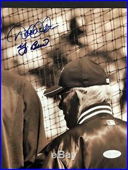 Derek Jeter & Yogi Berra 8x10 rare Image Dual Signed Photo Steiner Hologram