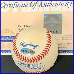 Derek Jeter rare 1990s autograph Yankees signed AL Baseball Steiner COA + Holo